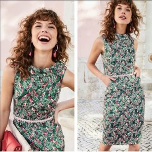 Boden Martha Sheath Dress Forest Jungle print